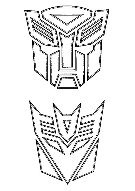 Decepticon Coloring Pages transformers coloring pages coloringpages1001