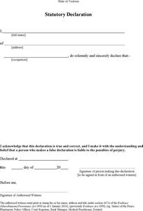 Statutory Declaration Letter Template Statutory Declaration Form Download Free Amp Premium
