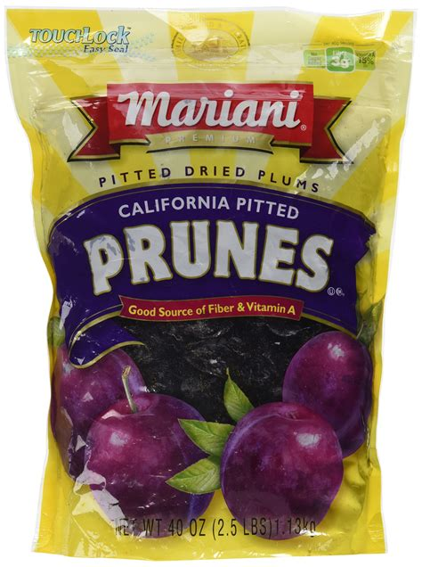 Mariani Pitted Dried Prunes 283g mariani pitted dates 100 free 40 ounce