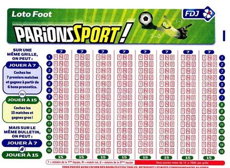 Grille Loto Foot Imprimer by Loto Foot En Ligne Comment Jouer Au Loto Foot