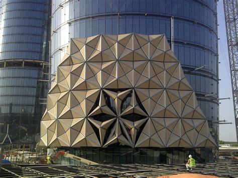 grid pattern in buildings hexagonal grid pattern based on al bahar towers grasshopper