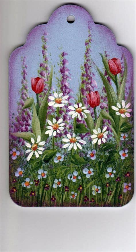spring garden painting pattern packet dawksartetsy