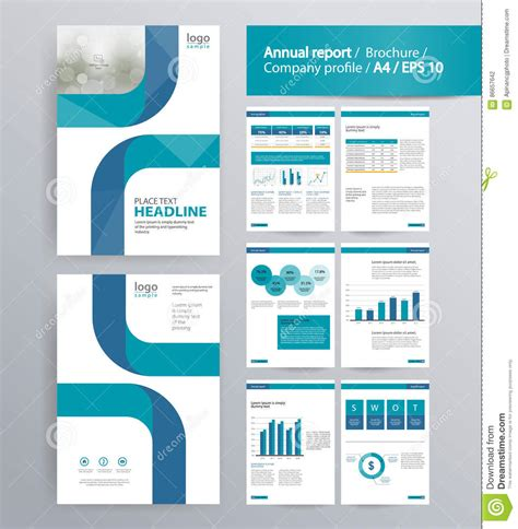 graphic design company profile template page layout for company profile annual report and