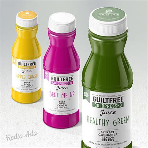 desain label minuman botol sribu professional and affordable label design company