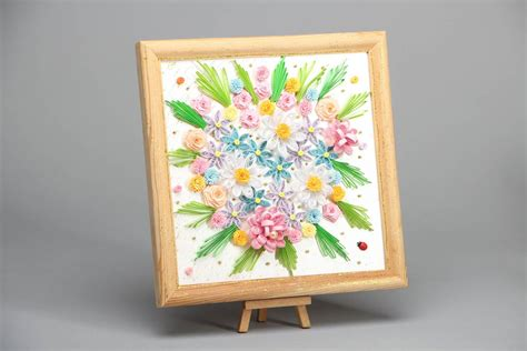 Beautiful Handmade Wall Hangings - beautiful quilling picture