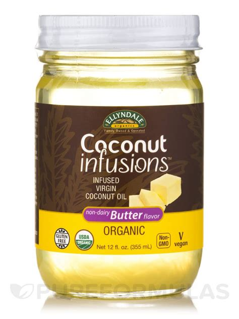 ellyndale organics coconut infusions non dairy butter flavor 12 fl oz 355 ml
