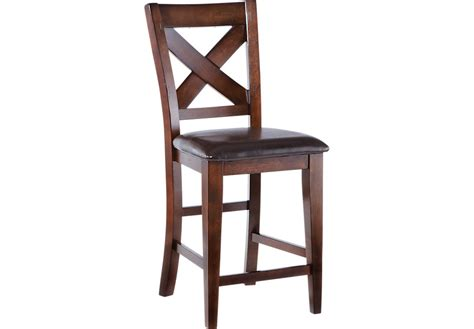 counter stool or bar stool height mango burnished walnut counter height stool barstools