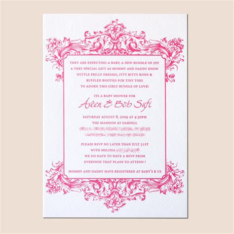 Baby Shower Invitation Card Wording by Simple Baby Shower Invitation Wording Theruntime