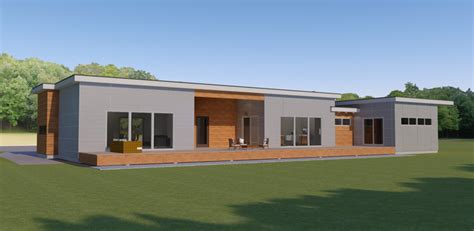 modern single story flat roof plans jetson green contemporary prefab home for a writer