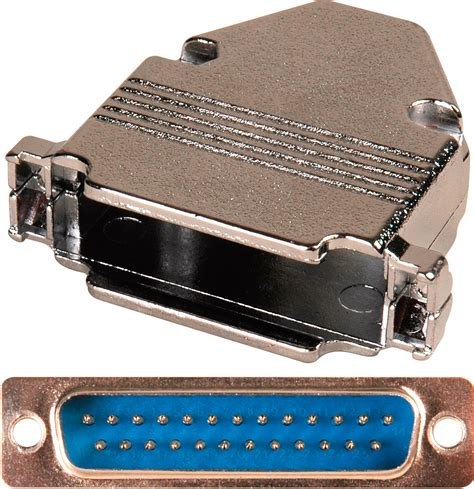 25 pin hd d sub connector with metal dp25b and