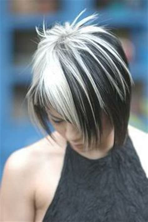 how to dye hair with black chunks 25 best ideas about white hair highlights on pinterest