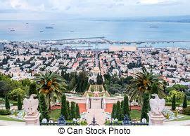 porto di israele giardino haifa panorama israele bahai porto