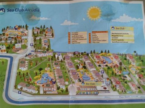 sea resort map block c pool picture of seaclub mediterranean resort