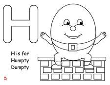 Making Learning Fun Humpty Dumpty Coloring Humpty Dumpty Coloring Page