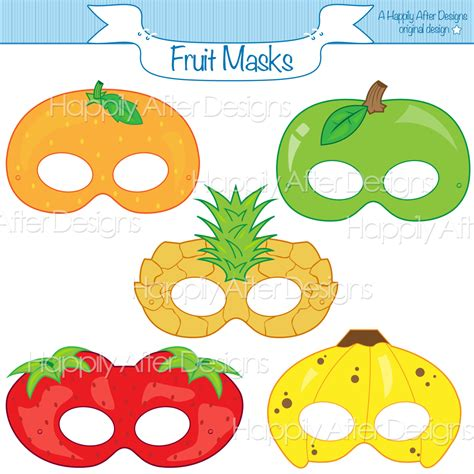 fruits printable masks strawberry mask banana mask orange