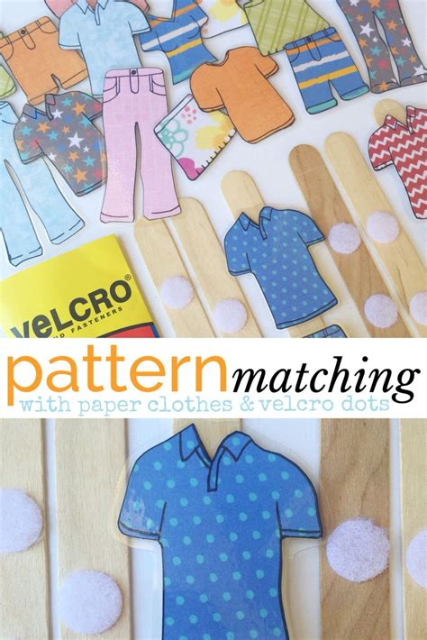 pattern matching activities pattern matching a simple busy bag idea laminated