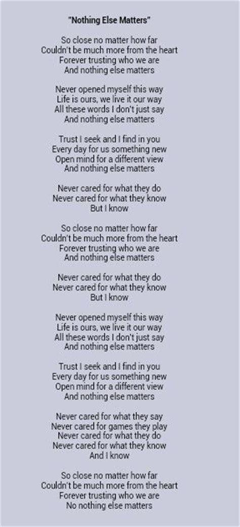 text metallica nothing else matters metallica nothing else matters lyrics 176 lyrics