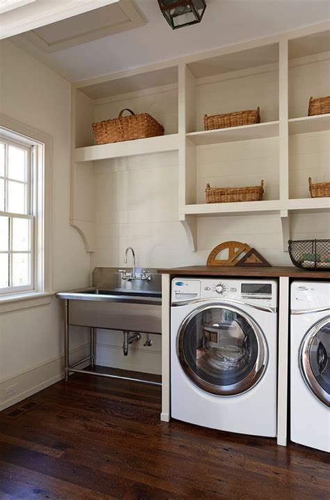 Stainless Steel Laundry Room Sink Laundry Room This Laundry Room Features Built In Cabinets That Brings The Washer And Dryer To A
