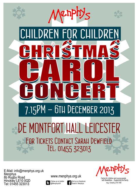 poster design leicester menphys children for children carol concert poster design