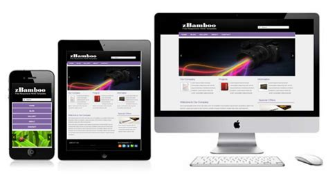 free responsive template zbamboo free html5 templates free responsive themes