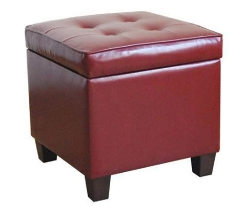 square tufted storage ottoman tufted square red leatherette storage ottoman gift ideas