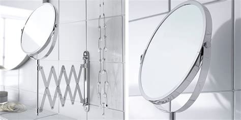 ikea frack magnifying make up shaving mirror extendable top 10 best magnifying mirrors illuminated with light