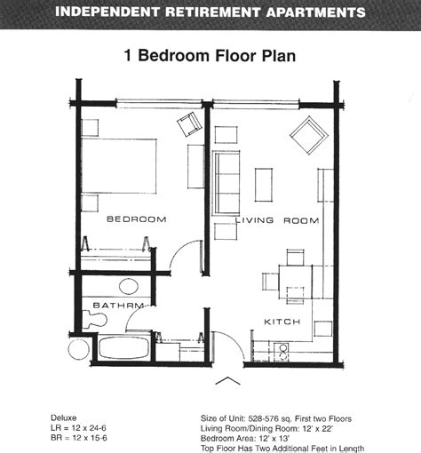 One Bedroom Apartment Floor Plans Google Search Real One Bedroom Design Layout