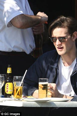 lily james and matt smith enjoy drink in london sunshine