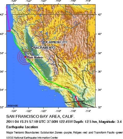 san francisco earthquake map bedrock earthquake of 3 4 magnitude shakes san francisco on 105th