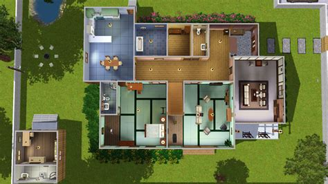 Floor Plan Design Free mod the sims nobita s home from the anime doraemon