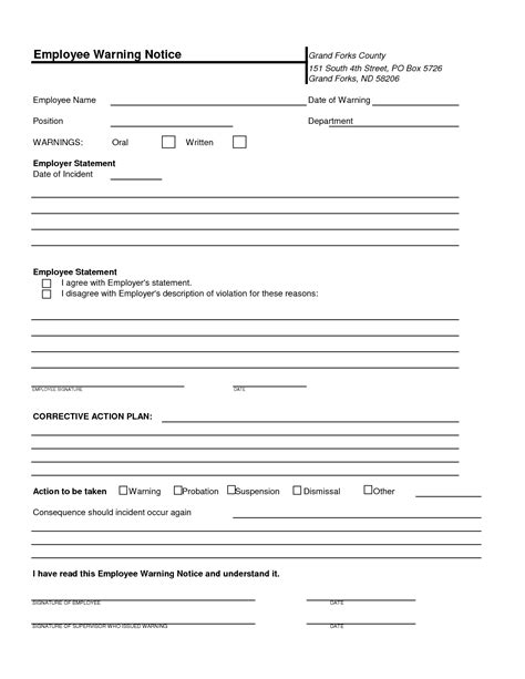 performance write up template discipline letter for poor performance employee