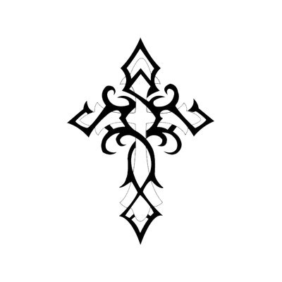tattoo flor png cross gothic tattoo transparent png stickpng