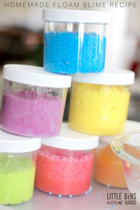 make floam slime recipe for slime science