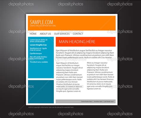 Simple Homepage Template simple website templates cyberuse