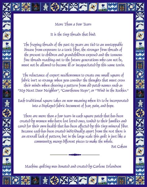 Poems About Quilting by Memory Quilt Poem About