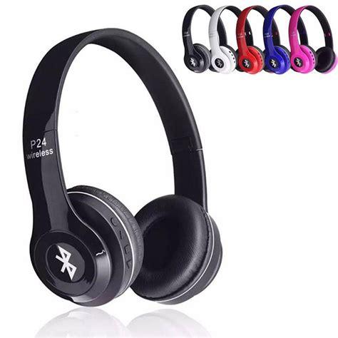 Headset Wireless Bt P24 headband bluetooth headphones p24 h p band earphone wireless sport ear hook handset