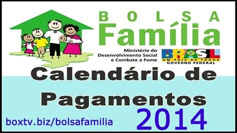 Calendario Bolsa Familia 2014 Calend 225 Bolsa Fam 237 Lia 2014 Ver Tabela Pbf 2014