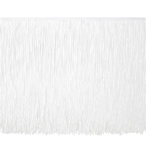 upholstery fringing 12 quot chainette fringe trim white discount designer fabric