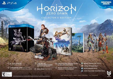 horizon zero dawn collectors 3869930810 horizon zero dawn playstation 4 collector s edition 0711719504962 buy new and used video
