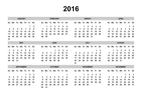 black and white printable planner 2016 2016 calendar free stock photo public domain pictures