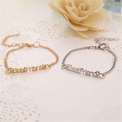 fashion metal gold friendship best friend bracelets for