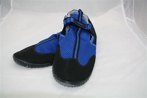mens blue wetsuit velcro aqua shoes sizes 10 and 11