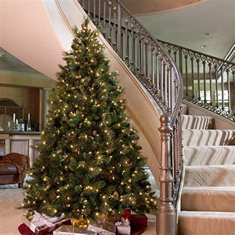 carolina pine full pre lit christmas tree 6 5 ft