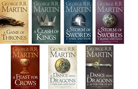 the song of seven books of thrones song of and 7 book set george rr
