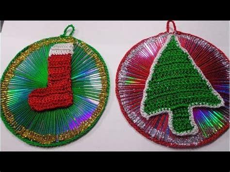 como hacer adornos de cds navide241os adornos navide 209 os de cds reciclados paso a paso