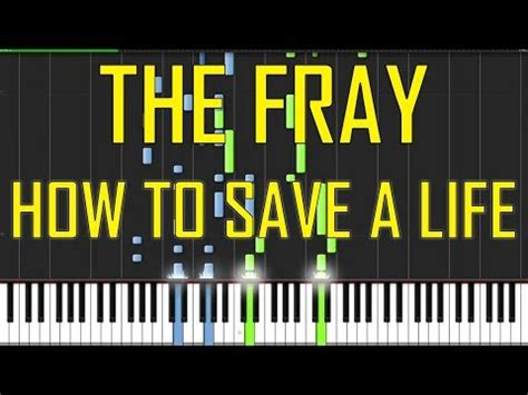 tutorial piano how to save a life the fray how to save a life piano tutorial chords