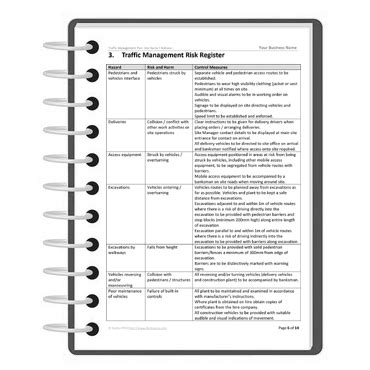traffic management template risk management plan template free forms ebook
