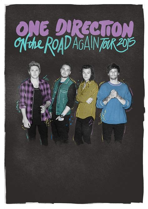 one direction release their tour poster as a four