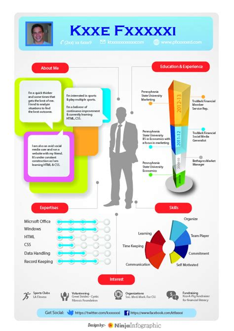 infographic resume template powerpoint free infographic resume template word free