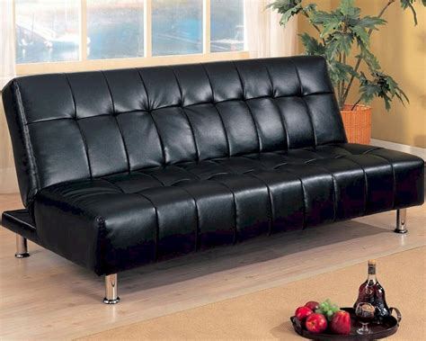 Black Sectional Sofa Bed Coaster Furniture Armless Convertible Sofa Bed In Black Co300118